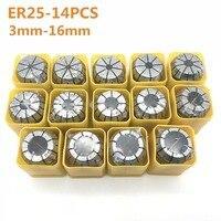 Hohe qualität elastische collet ER25 3mm 4mm 6mm 8mm 10mm 12mm 14 mmCNC maschine gravur maschine motor welle cutter rod clamp collet|Werkzeughalter|   -