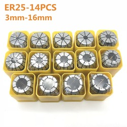 Wysokiej jakości elastyczne collet ER25 3mm 4mm 6mm 8mm 10mm 12mm 14 mmCNC maszyny grawerowanie maszyny wału silnika frez rod clamp collet