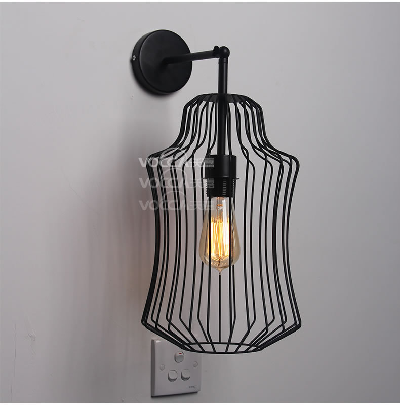 New classical bar counter vintage lamps bedroom lamp big nobility iron birdcage wall lamp