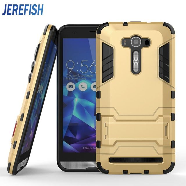 separation shoes 54959 e0dd3 US $4.99 |For Asus ZenFone 3 Deluxe 5.5 ZS550KL Case Hybrid Dual Hard  Plastic + Soft Silicone Iron Man Shield 3D Armor Stand Holder Cover-in ...