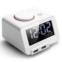 3.2 Inch LCD ClockS Display Time Electric C1 Bedside Clock Alarm Clock with A Charging Port Electronic Temperature