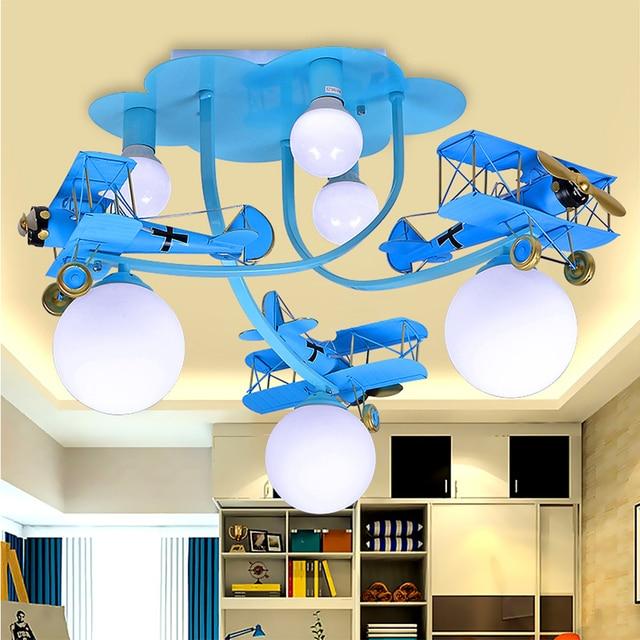 HGhomeart Kind Acryl Lampenschirm Flugzeug Eisen Rot Kronleuchter  Mundgeblasenem Glas Kronleuchter Für Verkauf 110 220