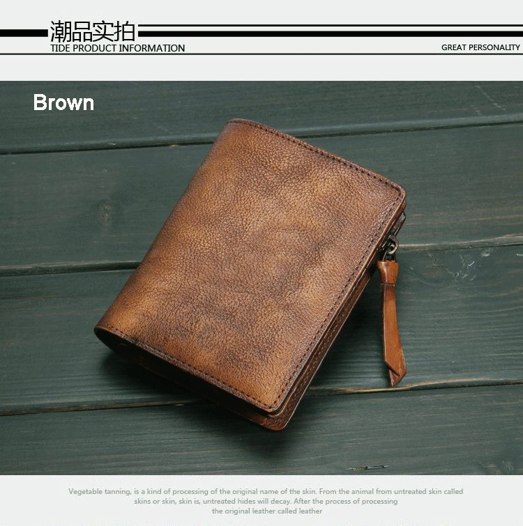 89a879a28cb88b Fashion Vintage Genuine Leather Wallet men Wallet Leather men purse  vertical short money bag male wallet coin Purse card holder-in Wallets from  Luggage ...
