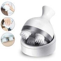 3D Head Massager Automatic Rotate Waterproof Massage Roller Wave Rolling Relieve Pain Massager Hair Growth Massageador