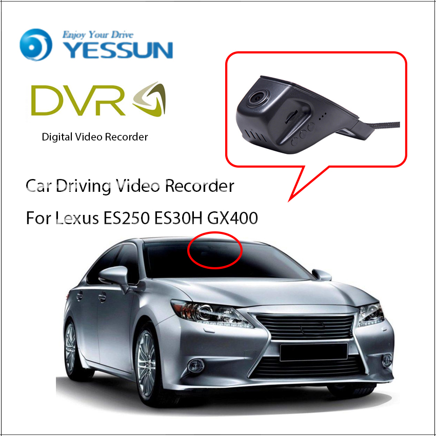 YESSUN <font><b>Car</b></font> <font><b>DVR</b></font> Driving Video Recorder For <font><b>Lexus</b></font> ES250 ES30H GX400 Front Dash Camera HD 1080P Not Rear Back Camera image