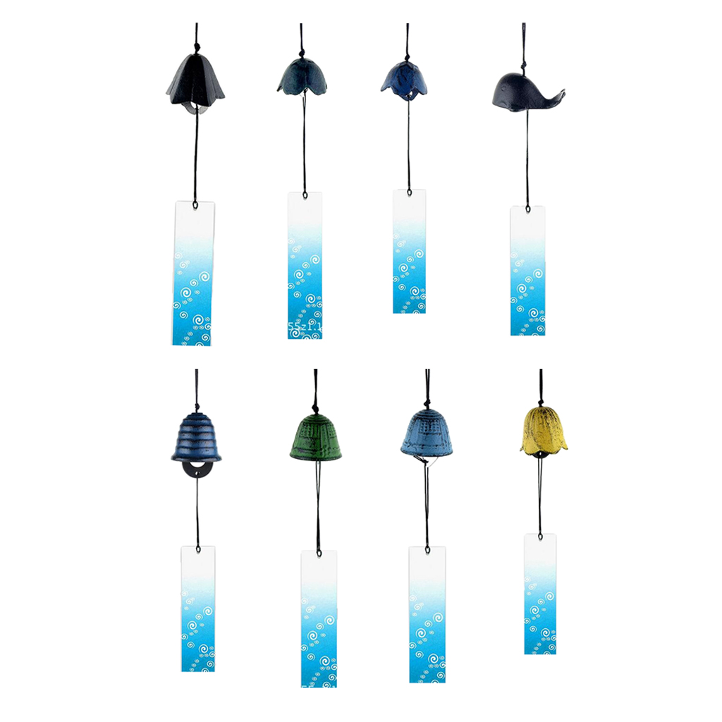Image 2 - 8Pieces Japanese Furin Wind Chime Nambu Cast Iron Iwachu BellsWind Chimes