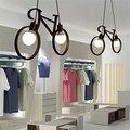 Подвесной светильник в стиле ретро, креативный железный подвесной светильник для велосипеда, подвесной светильник для гостиной, простой ре...
