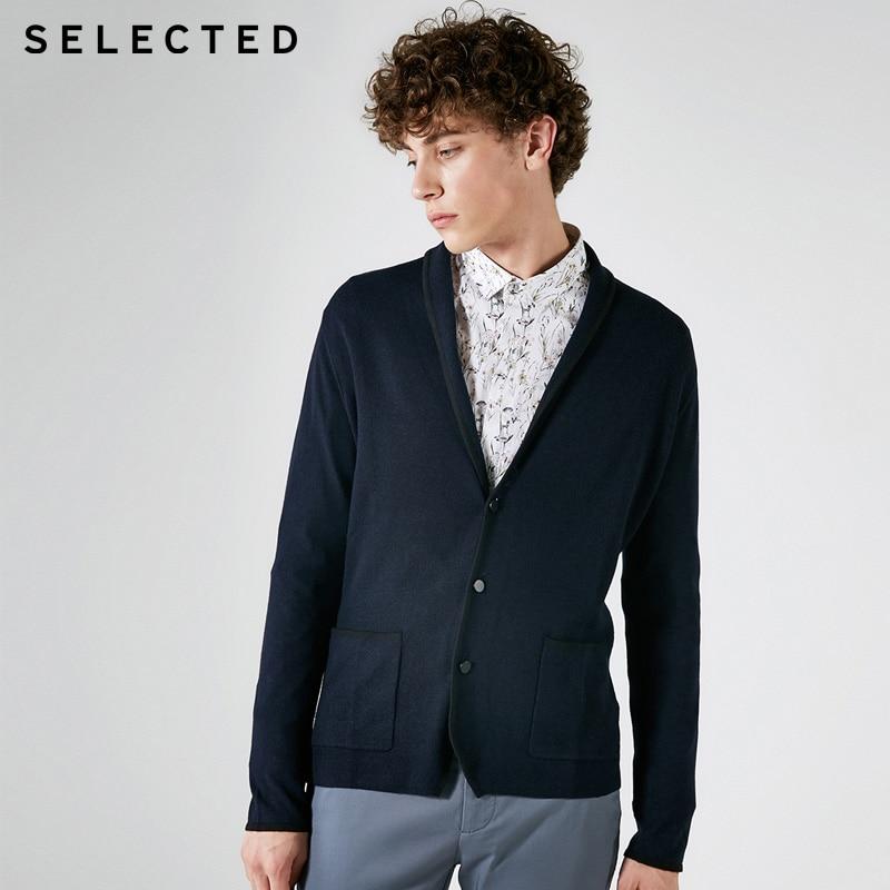 SELECTED Wool Men's Long Sleeve Knit Coat  417324513