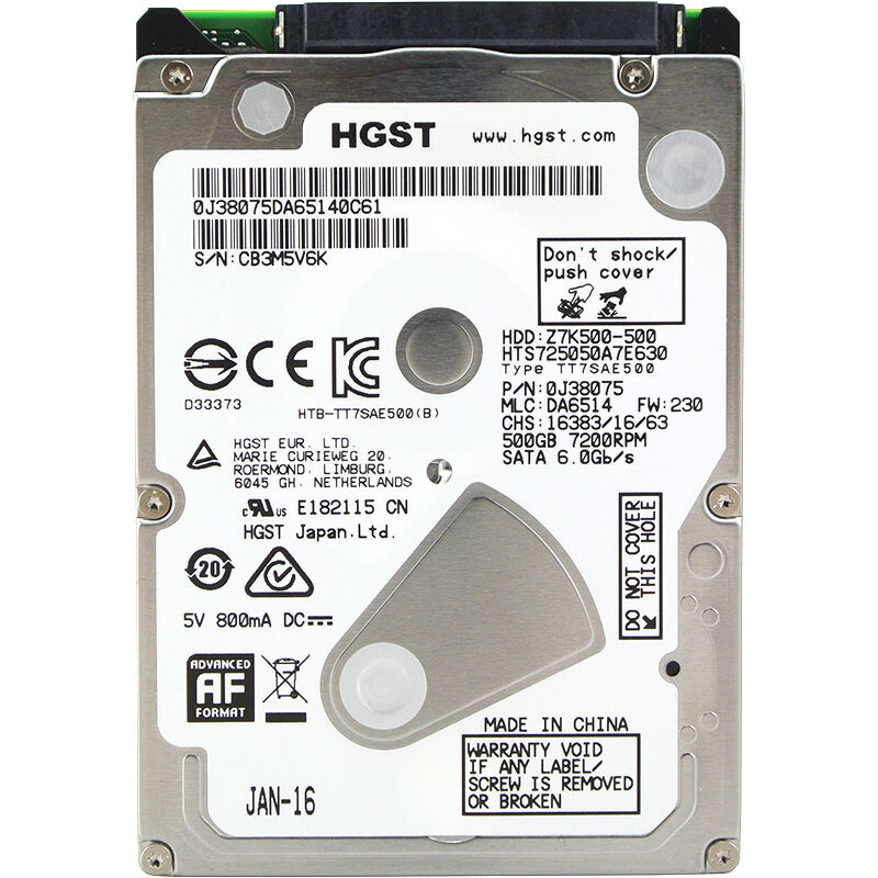 HGST 2 5 HDD 500GB Internal Laptop Hard Drives disk 7200rpm SATAIII 500g for Notebook HTS725050B7E630
