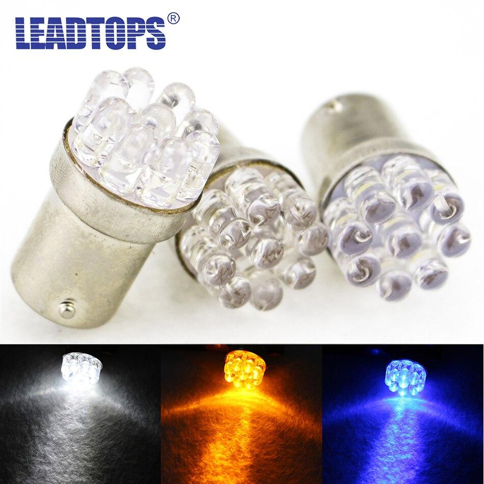 10pcs/lot 9 SMD LED 1156 ba15s 12V bulb Lamp Truck Car Moto Tail Turn Signal Light White BE merdia 1156 3w 150lm 22 x smd 1206 led white light car tail light brake lamp 2 pcs 12v