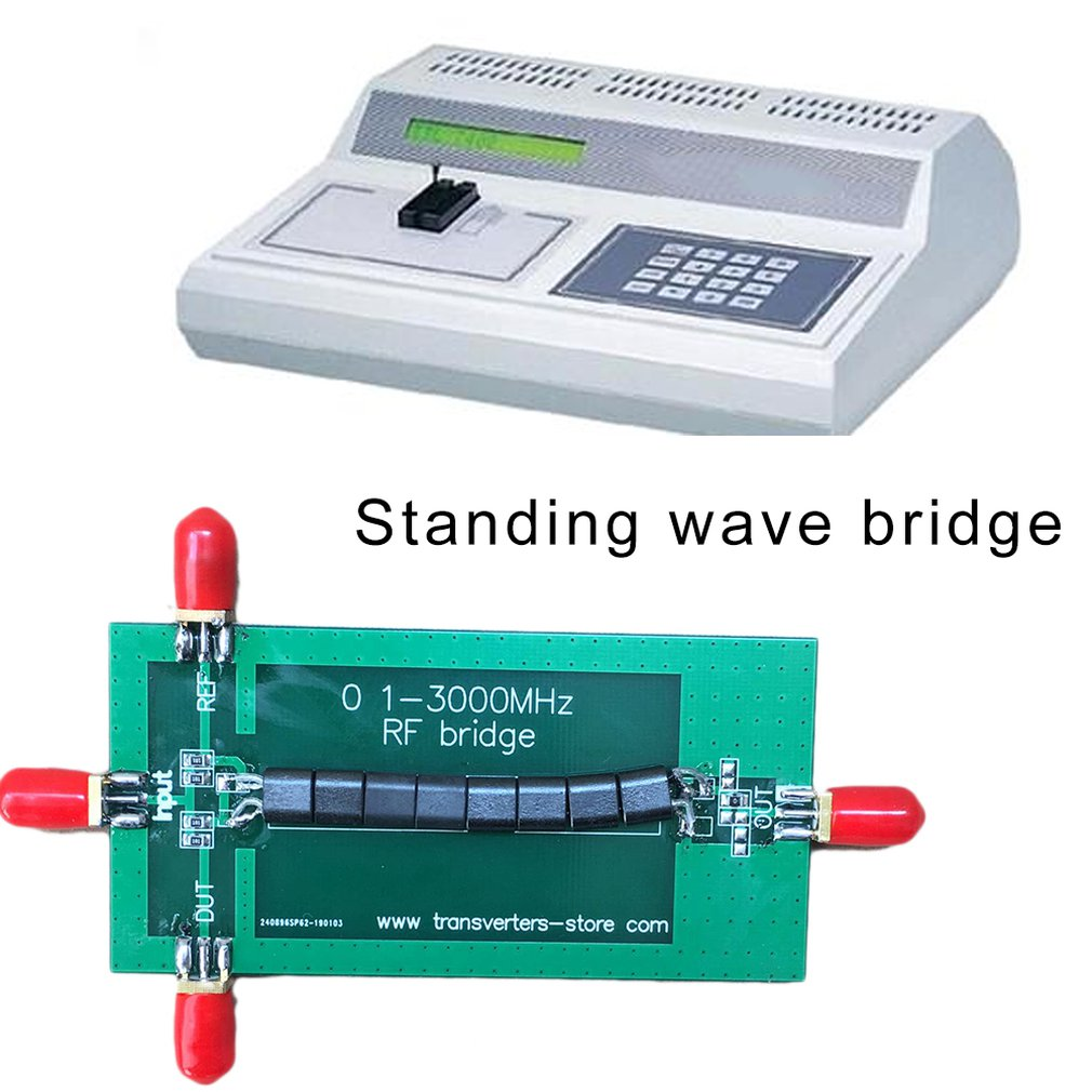 Compact RF Bridge 0 5-3000 Mhz Vna Return Loss Vswr Swr Reflection Bridge  Antenna Electronic Module High Performance