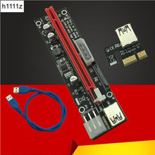 60CM PCI Express 1X To 16X PCIE Riser Card For BTC Miner Machine Overcurrent Protection USB Cable SATA To 6Pin Power Cord Mining(China)