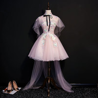luxury embroidery flowers short lolita dress with long cloak/cartoon/carnival cosplay