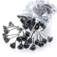 100pcs Stainless Steel Wire Cup Abrasive Brush Rotary Tool Fits Dremel Polishing Tool 1 8 Shank