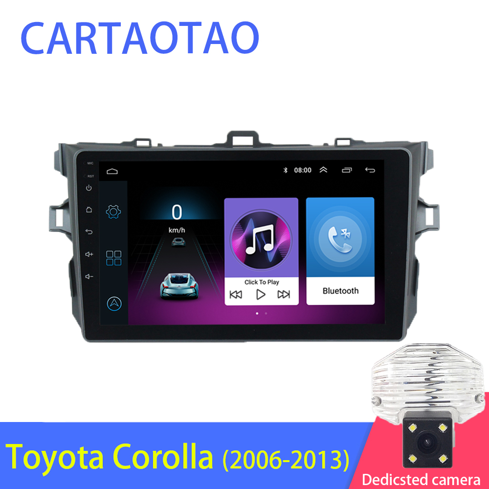 2din 2.5D Android Car Radio Multimedia Player for Toyota Corolla E140 / 150 2006 2007 2009 2010 2011 2012 2013 Navitel GPS WI FI-in Car Multimedia Player from Automobiles & Motorcycles    1