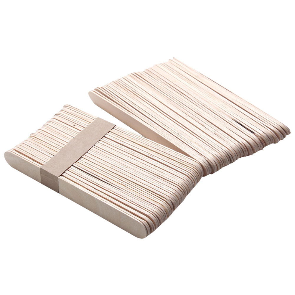 100 Pcs Wooden Spatulas Body Hair Removal Sticks Wax Disposable Salon Hair Epilation Stick Tools Pretty Wax Waxing Sticks 500pcs pack medical disposable sterile waxing tongue depressor wax stick spatula for oral examination birch wooden