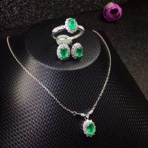 Image 5 - Модное ожерелье из серебра 925 пробы с натуральными бриллиантами