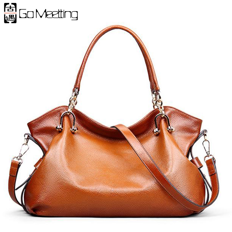 Go Meetting Brand Genuine Leather Women's Handbags High Quality Cow Leather Women Shoulder Bags Vintage Hobos Messenger Bag WS71 женские часы go girl only go 694925
