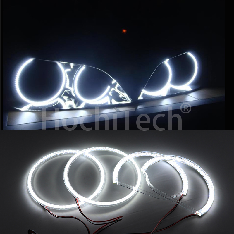 HochiTech White Halo Light car smd LED Angel Eyes Halo ring Kit Day Light DRL For Lexus IS200 IS300 1998 2005