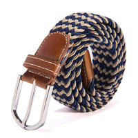 The New 39 Color Stretch Woven Belt Factory Direct Wholesale Spot Men S Women S Leather