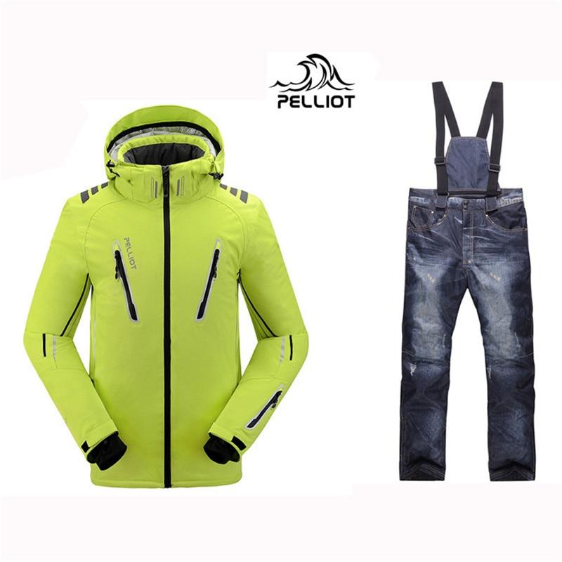 2019, Pelliot homme ski costumes veste + pantalon hommes imperméable, respirant thermique chalet-rembourré super chaud snowboard livraison gratuite!