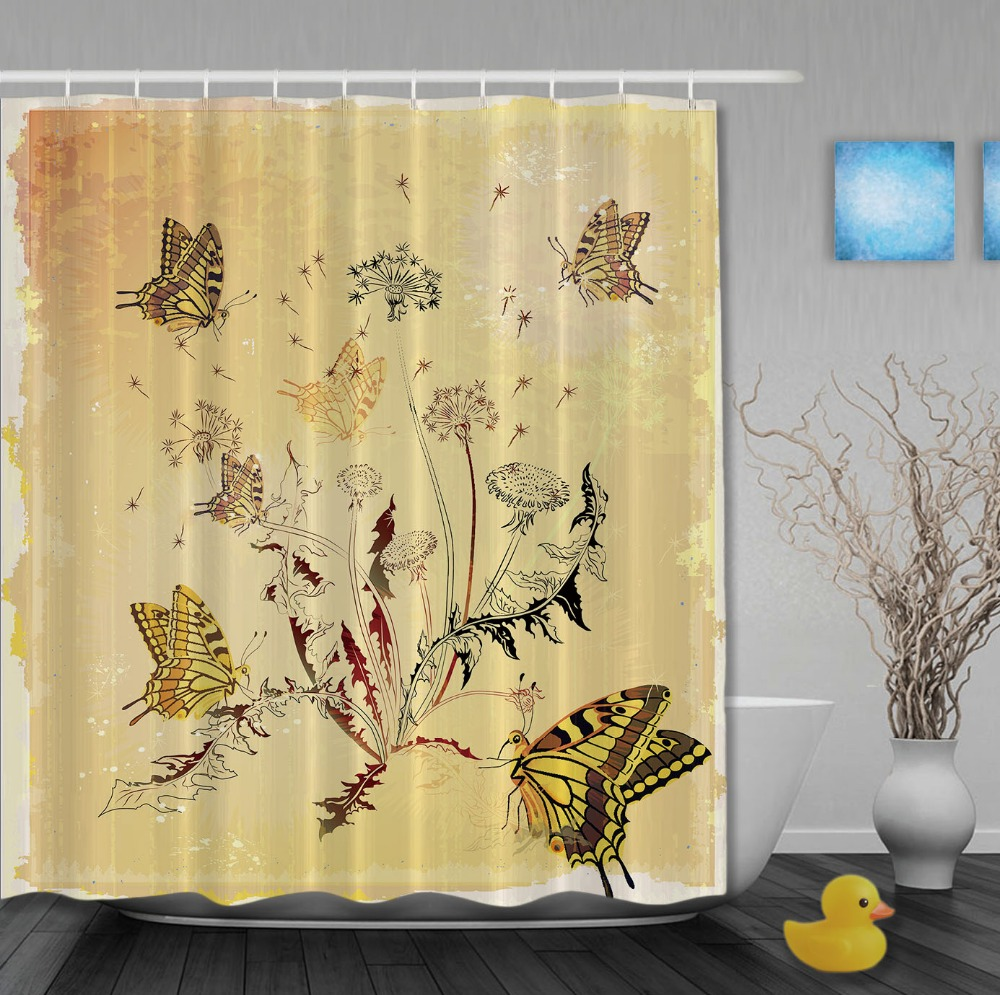 Custom Wedding Decorations Shower Curtains Butterflies