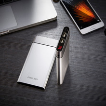 Ultra thin 10000mAh Power Bank USB Dual-Input Smart Digital Display  for Iphone 8 X Fast Charging External Battey