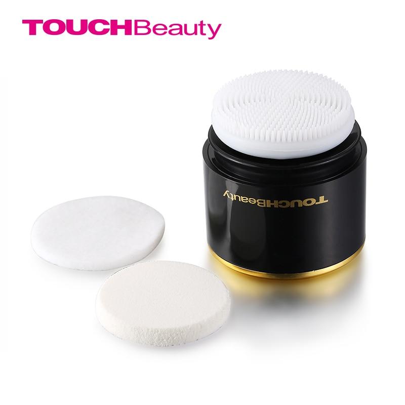 TOUCHBeauty 2-in-1 elektrische sonische gezichtsreiniger, twee optionele werksnelheden gezicht reinigingsborstel en poederdons TB-1289