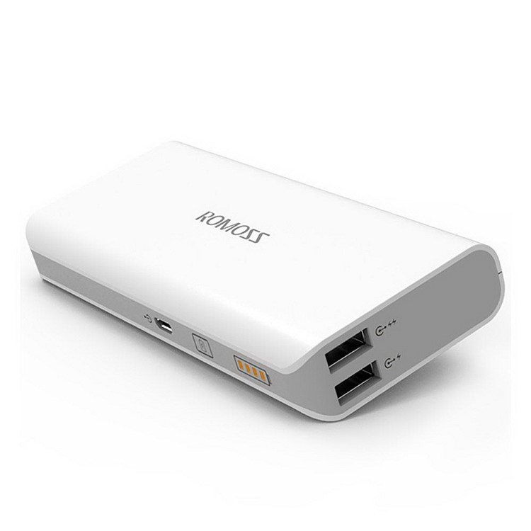 Original ROMOSS Sense 4 Sense4 Dual USB 10400mAh Power Bank 18650 Powerbank Portable Charger 201845 2