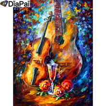DIAPAI 100% Full Square/Round Drill 5D DIY Diamond Painting Guitar painting Diamond Embroidery Cross Stitch 3D Decor A19129 diapai 5d diy diamond painting 100
