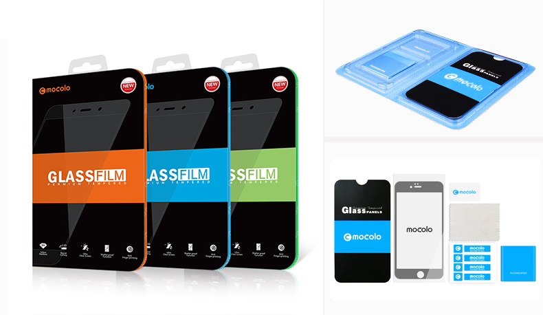 Mocolo Tempered Glass MIA1 Retail Packaging