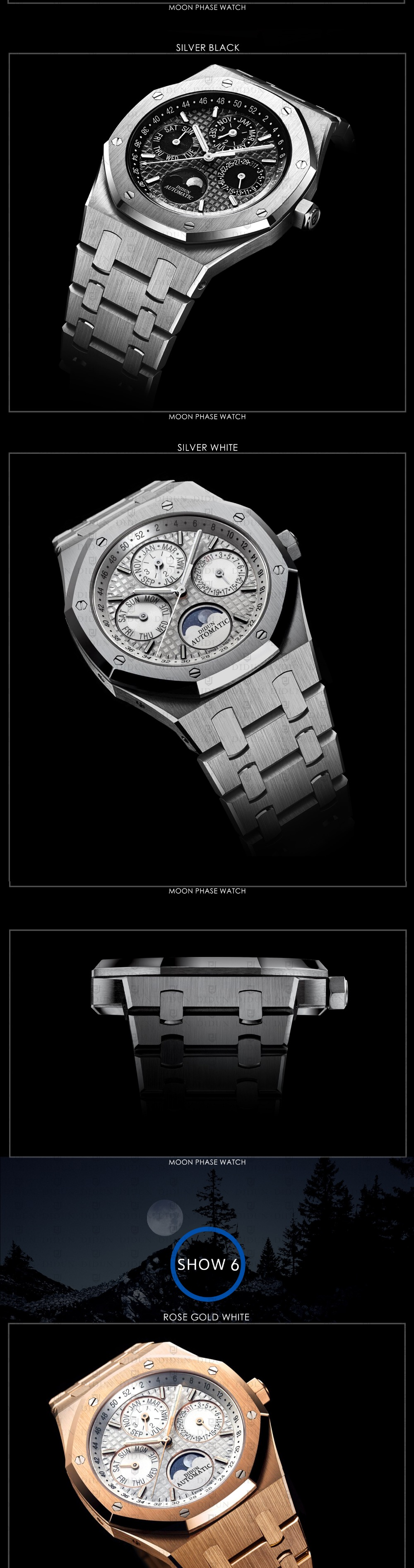 MP-BBF Didun Design Moon Phase Perpetual Calendar Mechanical Wristwatch  Automatic Core