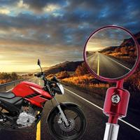 2Pcs Round Motorcycle End Bar Rear View Side Mirrors Aluminum 7 8inch Bracket Side View Mirrors