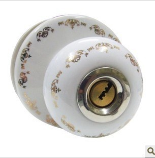 Ceramic lock the door when indoor European ball lock hold hand lock copper core S-036G