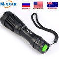 Dropshipping Led flashlight 9000LM T6 led Torch Zoomable LED Flashlight Torch light lampe torche for 18650 Rechargeable Battery