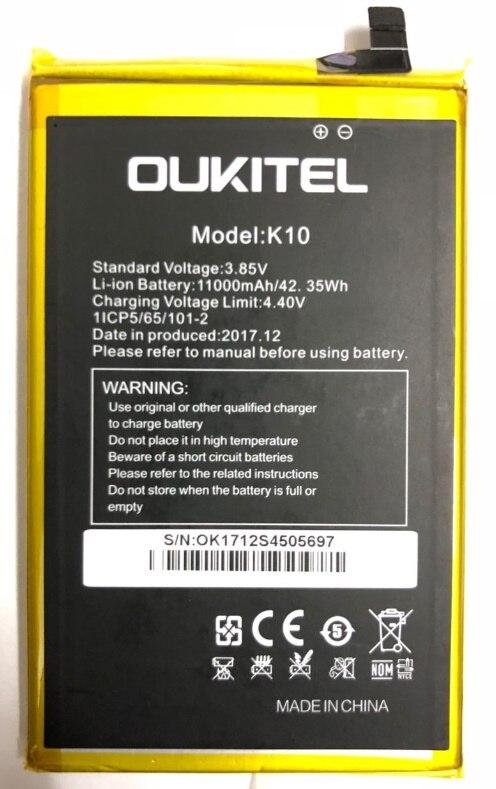 Oukitel K10 batterie 100% batterie d'origine 100% batterie de secours d'origine 11000 mAh remplacement pour téléphone portable Oukitel K10