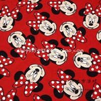 50 140cm Minnie Mouse Child Polyester Fabric Baby Birthday Party Wallpapers Diy Handmade Craft Bedding Home