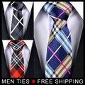 Мужчины Галстуки Новый Решетки Chequer Галстуки Классический Человек галстук 5 см Широкий 5 шт./лот Заказ Смешивания, 5 Стилей, доступных, бесплатная доставка