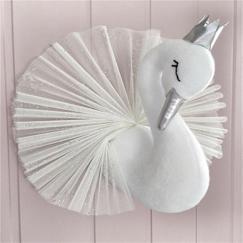 Cute-Golden-Crown-Swan-Wall-DecorationDoll-Pink-Princess-Swan-Stuffed-Toys-Animal-Head-Wall-Hanging-for (1)
