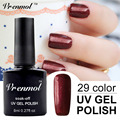 Vrenmol 1pcs Soak Off UV Nail Gel Polish Long Lasting 29 Colorful Shining Varnish Esmaltes Semi Permanent Gel Lacquer