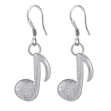 Musical Note Silver Plated Earrings