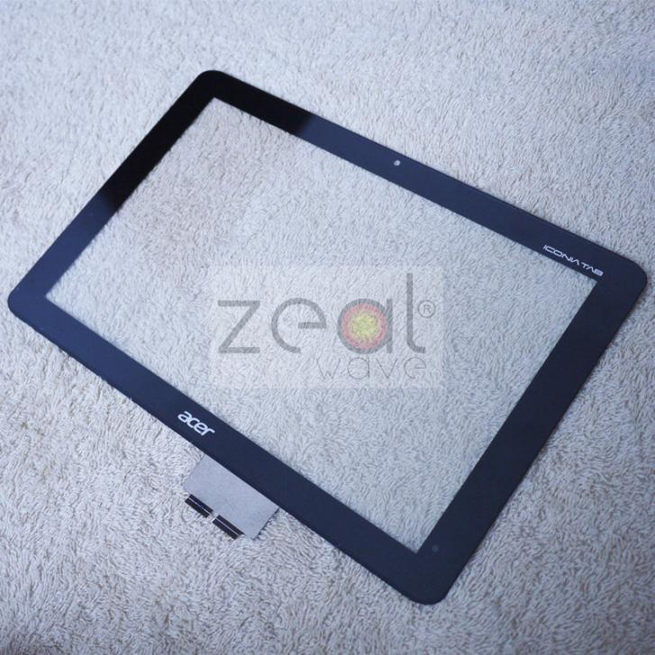 For Acer Iconia Tab A210 10.1 Front Panel Touch Screen Digitizer Glass Black Color Without logo