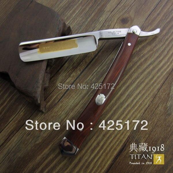 Бесплатная доставка Титан бритвы деревянной ручкой ручной бритвы для бритья sharp