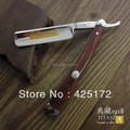 Envío libre Titan maquinilla de afeitar mango de madera hecho a mano afilada navaja de afeitar de afeitar