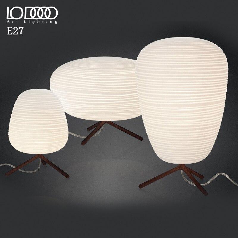 Lodooo E27 современная настольная лампа для Гостиная современные настольная лампа прикроватная лампа led, декоративный Стекло настольная лампа - 3
