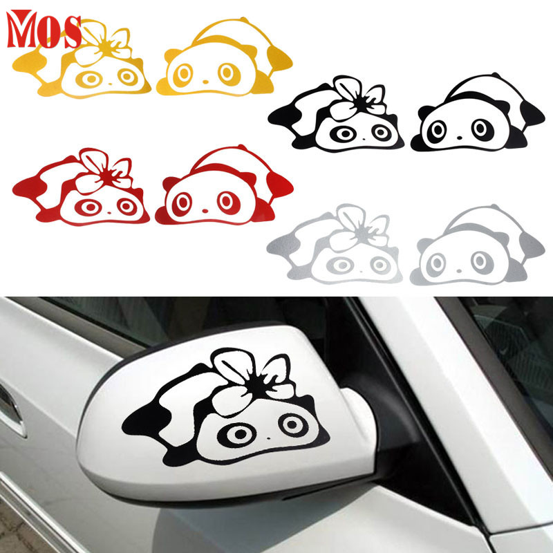 AG 26 2017 Hot Selling Fashion Panda Design 3D Decoration Sticker For Car Side Mirror Rearview 421