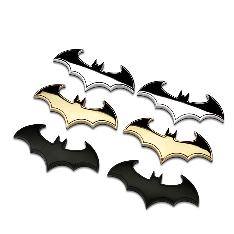 BATMAN 3D metal emblem,high quality auto mobile refit DIY decor badge sticker for mazda 6/ford fiesta/toyota corolla/mini coope