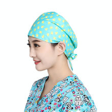 7652d019767 Floral Print Doctor Scrub Caps Women's Surgical Hats with Sweatband for  Women Workwear Cap Long Hair
