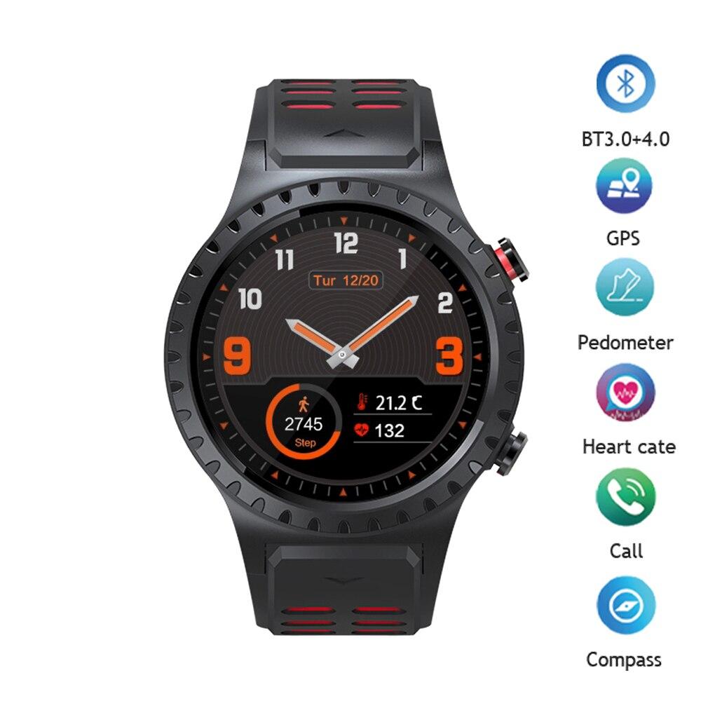 Montre intelligente MTK2503 Bluetooth Smartwatch passomètre fréquence cardiaque GPS montre téléphone boussole Sport hommes montre pour IOS Android téléphone-in Montres connectées from Electronique    1