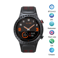 Smart Watch MTK2503 Bluetooth Smartwatch Passometer Heart Rate GPS Watch Phone Compass Sport Men Watch for IOS Android Phone